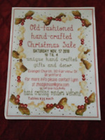 OLDE FASHIONED HANDCRAFTED CHRISTMAS SALE