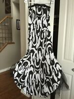 New strapless black and white dress - size 8