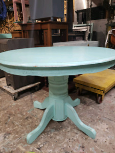 Blue Green Rustic Table