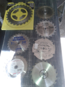 Table saw blades new and hardly used set of 6