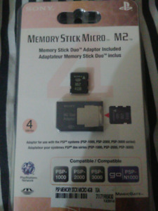 Psp memory stick micro with adapter 4 gb