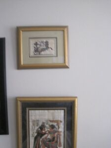 Egyptian papyrus pictures  framed   (2)