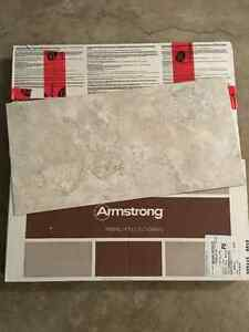 Two boxes of Armstrong Engineered Stone Flooring