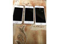 iPhones 5, 5s ,6