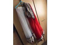 Pleated sari