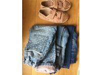 Next girls jeans and canvas shoes age 4-5 yrs
