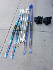 Cross Country Skis+Poles+Boots (Like NEW - Used once)