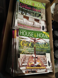 55 HOUSE AND HOME MAGAZINES