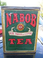 Rare Nabob Square Tin - Indian & Ceylon