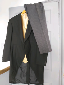 Magee Black morning suit with gold waistcoat