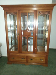 Beautiful Walnut Display Cabinet
