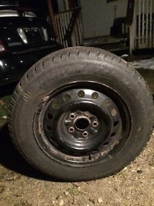 winter tires 205/65R15 , with a bolt pattern 5x114.3 from a Toy