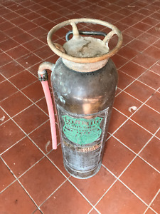 Antique Copper Fire Extinguisher Made in Toronto