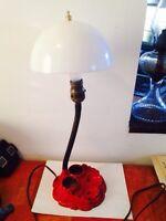 Antique Art Deco Cast Iron Writing Lamp