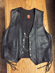 LEATHER Custom-Made Men's Leather Motorcycle Vest