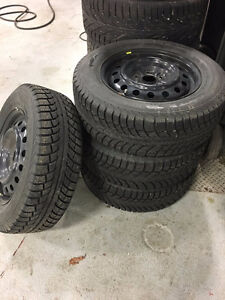 "4 Winter Tires with Rims 215/65 16"" Gislaved Nordfrost5"