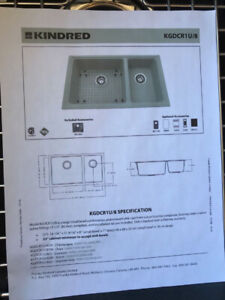 Kindred Brand New Undermount Kitchen Sink