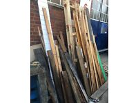 Timber and pallets Free to collector