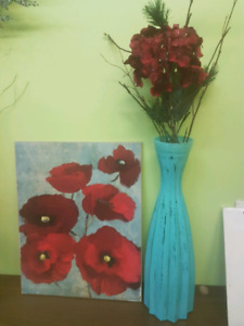 Picture and vase