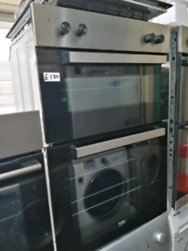 ➡️➡️SALE⬅️⬅️ SILVER BEKO BUILT IN ELECTRIC DOUBLE OVEN ONLY £130
