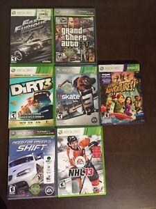 Jeux de Xbox 360 a vendre
