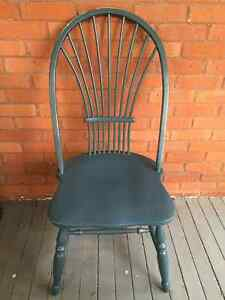 3 Painted Windsor Chairs