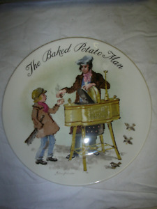The Baked Potato Man - collector plate
