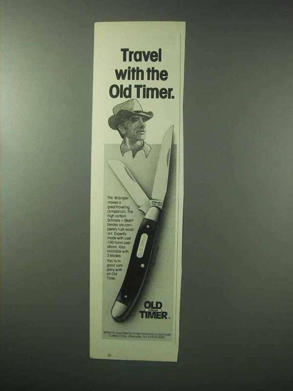 1983 Schrade Old Timer Wrangler 930T Knife Ad