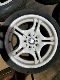 BMW Style 68 Staggered M Sport white alloy wheels 17 inch. E36 e46 z3 z4 E90 F30 F20