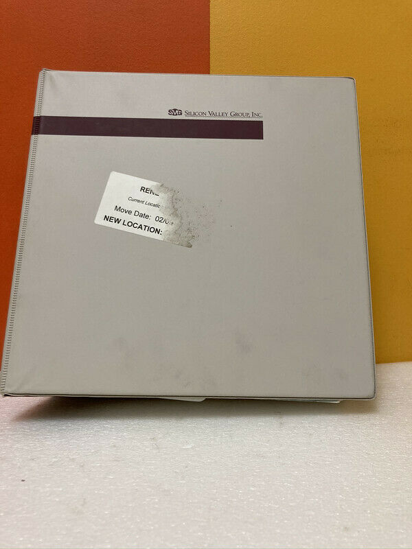 Silicon Valley Group 52-20001-01 90 Series Maintenance Manual