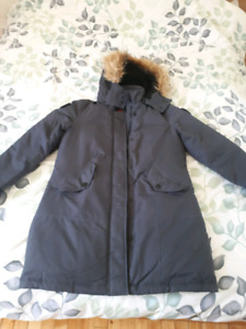 Woman Winter feather coat