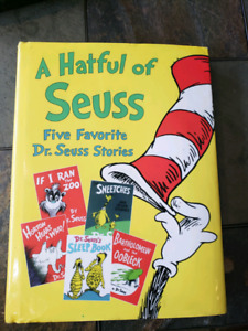 A Hatful of SEUSS JUMBO size hard cover book 5 stories 1997