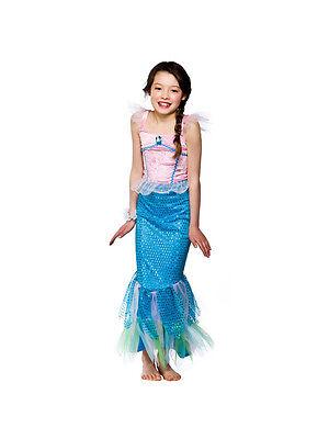 Little Mermaid Girl Kostüme (Child Little Pink Mermaid Outfit Fancy Dress Costume Ariel Kids Girls Halloween)