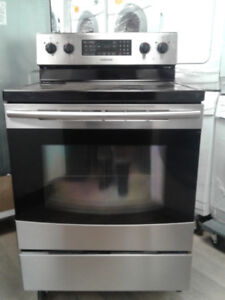 """stove Samsung convection 30"""" glass top  stainless s"""