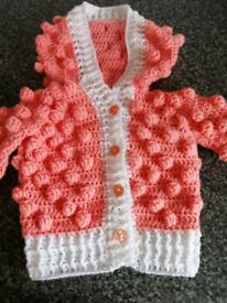 Brand new Crochet Baby jacket