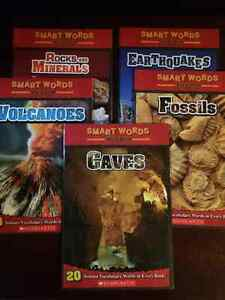 5 Scholastic Smart Words Reader Books; Science Vocabulary