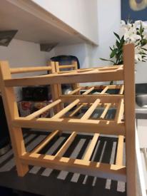 Wooden wine rack x 1