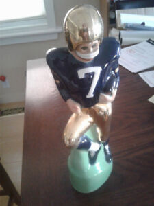 NOTRE DAME FOOTBALL PLAYER DECANTER