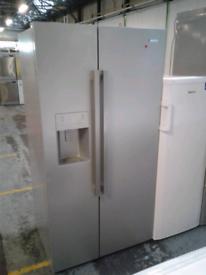 Silver beko American water and ice dispenser fridge freezer