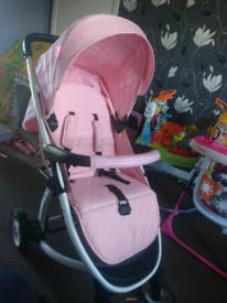 My Babiie Pink Stripes Pushchair