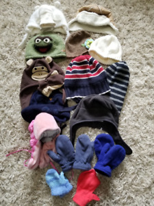 Winter Hats & Mitts, Size 0 - 4T