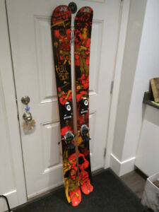 K2 Hellbent skis with Rossignol FKS 120 binding