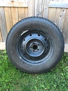 *with rims* Four 215/70r16 BFG Winterslamon Tires KSI, m+s