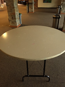 5-Foot Round Tables for Sale ($15 each, OBO)!