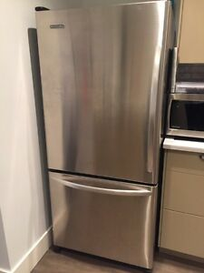 Kitchen aid stainless steel fridge