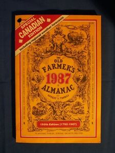 1987 OLD FARMER'S ALMANAC (SPECIAL CANADIAN EDITION)