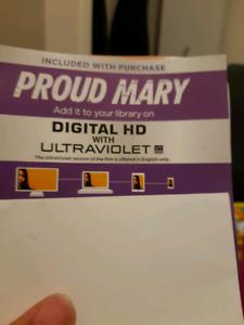 Proud Mary Blu-ray HD Digital Code!