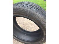 Potenza run flat tyre 245 X 45 X 17