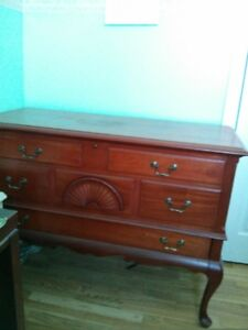Mahogany Cedar Lined Chest with Drawer