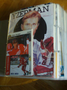 LOT DE PRES DE 200 CARTES DE HOCKEY DE STEVE YZERMAN